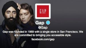 Gap's New Twitter Background